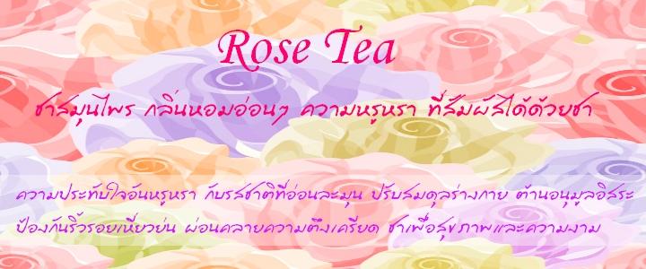 ชาดอกกุหลาบ - Rose tea - ชาสมุนไพร เชียงใหม่