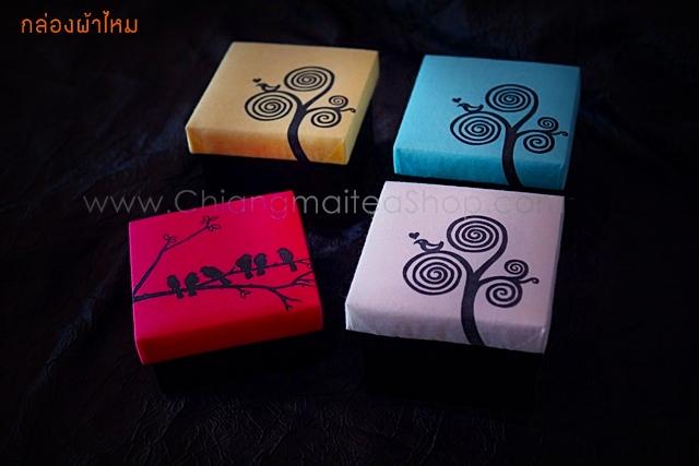 กล่องผ้าไหมไทย - ชาดอกไม้เชียงใหม่