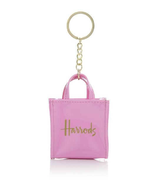Harrod - Signature Shopper Keyring สี Pink (พร้อมส่ง)