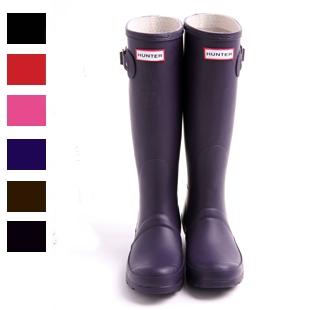 *รองเท้าบู๊ทกันน้ำ Rain boot รองเท้ากันลื่น กันฝน  Hunter     สีม่วง    ไซร์  35  36 37 38  40 41  42