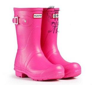 *รองเท้าบู๊ทกันน้ำ Rain boot รองเท้ากันลื่น กันฝน Hunter สีชมพู ไซร์ 35 36 37 38 40 41 42 ,