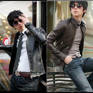 เสื้อผ้าผู้ชาย เสื้อผ้าแฟชั่น เสื้อแจ็คเก็ตหนัง เท่ๆ มี สีดำ มีั ไซร์ M L XL XXL XXXL