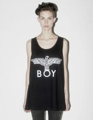 เสื้อยืด BOY เสื้อยืดแขนกุด ลาย Logo boy london  Bigbang GD Fantastic Baby