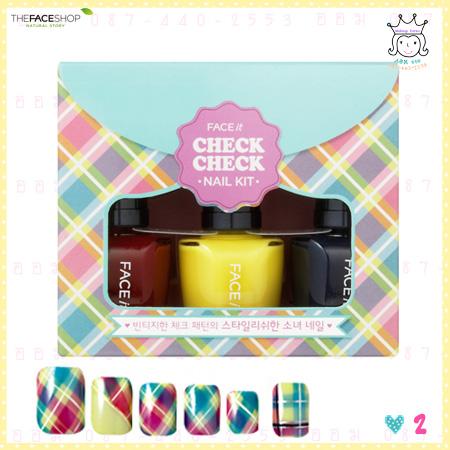 ( 2 ) FACE it Check Check Nails Kit