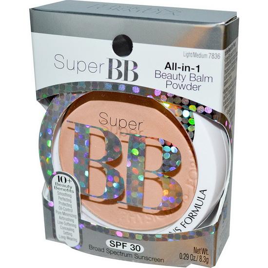 **พร้อมส่ง**Physicians Formula Super BB All-in-1 Beauty Balm Powder # Light/Medium แป้ง Super BB แป้งเนื้อเบาบางผสมบีบีครีมช่วยปกปิดริ้วรอยบนหน้า พร้อมด้วย SPF30 ปกป้องผิวหน้าจากแสงแดดระหว่างวัน ดูธรรมชาติไม่หนาค่ะ ผสานคุณสมบัติเด่น ปกป้องผิวจากรังสี UV ต