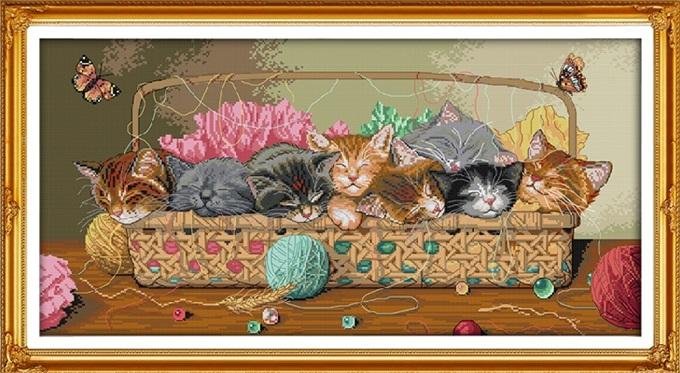 Basket cats (ไม่พิมพ์/พิมพ์ลาย)