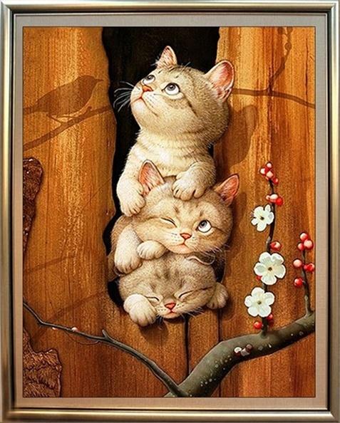 Cat & Dog (ไม่พิมพ์ลาย)