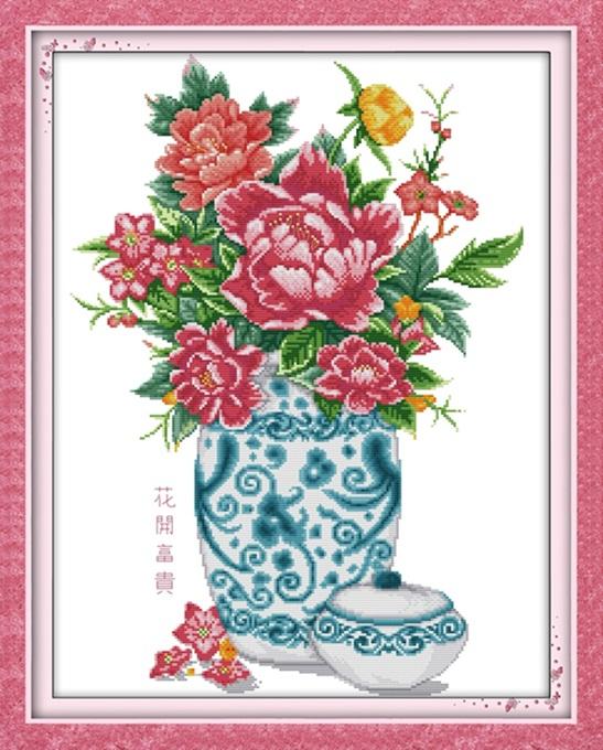 Peony vase (ไม่พิมพ์/พิมพ์ลาย)