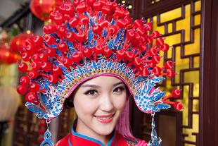 **แฟชั่น แบบจีน  หมวกผู้หญิง สีตามภาพ