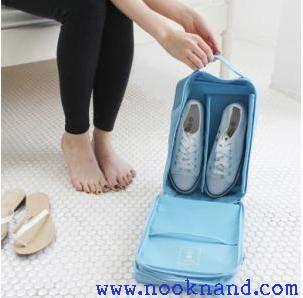 (กระเป๋๋ากันน้ำ)ใส่รองเท้าพกพา หรือจะใส่เดินทางได้ทุกประเภท กระเป๋าอนกประสงค์พกพาใช้งานได้ง่าย