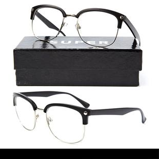 BLACK - RIMMED GLASSES แว่นตา  Poppin/Hiphop  แฟชั่นแว่นตา SUPER