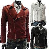 เสื้อผ้าผู้ชายราคาถูก เสื้อแจ็คเก็ตหนัง เท่ๆ มี สีดำ สีแดง สีขาว มีั ไซร์ M L XL XXL