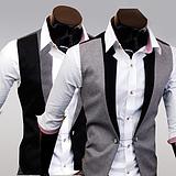เสื้อผ้าผู้ชาย ราคาถูก เสื้อกั๊ก เท่ๆ มี สีดำ สีเทา มีั ไซร์ M L XL