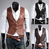 เสื้อผ้าผู้ชาย ราคาถูก เสื้อกั๊ก เท่ๆ มี สีดำ สีน้ำตาลเข้ม สีน้ำตาลอ่อน มีั ไซร์ M L XL