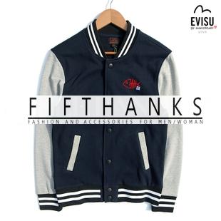 JACKETS  EVISU M  เสื้อแจ็คเก็ต เบสบอล  แฟชั่นเสื้อผ้าชายหญิง