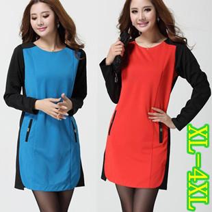 XXXXL สีฟ้า พร้อมส่ง เสื้อผ้า คนอ้วน  แฟชั่นไซส์ใหญ่ นำเข้า 100% ไซส์ใหญ่ ราคาถูก สไตล์เกาหลี