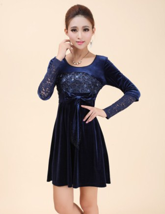 XL สีน้ำเงิน พร้อมส่ง เสื้อผ้า คนอ้วน  แฟชั่นไซส์ใหญ่ นำเข้า 100% ไซส์ใหญ่ ราคาถูก สไตล์เกาหลี