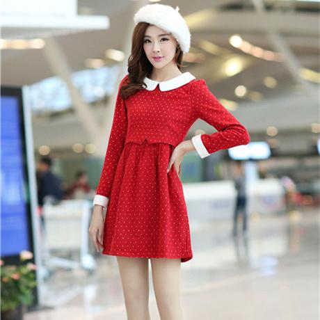 L สีแดง พร้อมส่ง เสื้อผ้า คนอ้วน  แฟชั่นไซส์ใหญ่ นำเข้า 100% ไซส์ใหญ่ ราคาถูก สไตล์เกาหลี
