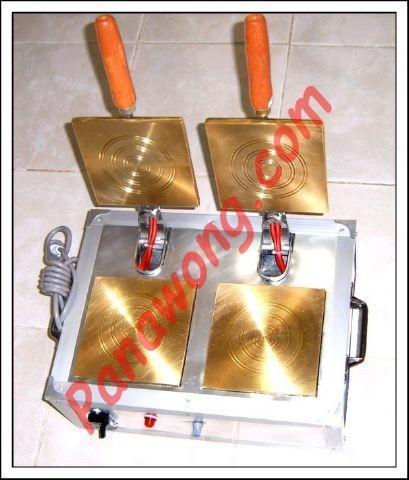 เครื่องทำขนมทองม้วนแบบทองเหลือง 2 หัว