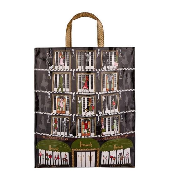 Harrods Size Large รุ่น  Harrods Elevators Large Shopper Bag (กระดุม) ***พร้อมส่ง