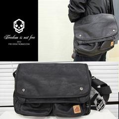 กระเป๋าผู้ชายราคาถูก กระเป๋าแฟชั่น กระเป๋าสะพาย X-Large มี สีดำ
