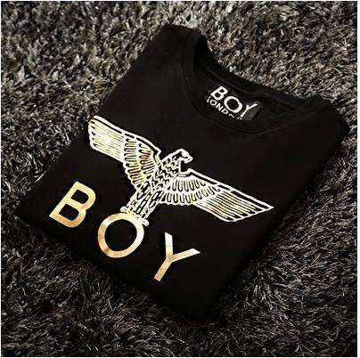 SW*EATER  B*Y  LOND*N   เสื้อสเวตเตอร์ eagle  boy  london  gold  logo  สินค้าแบรนด์ดังคุณภาพ