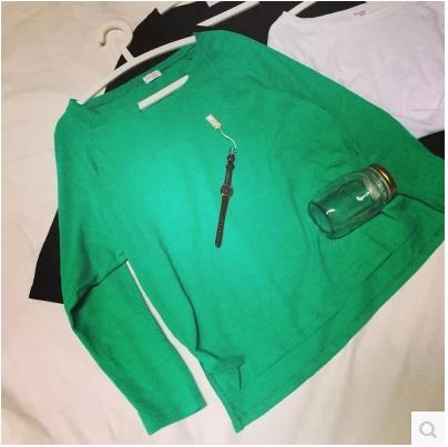 BLOUSES  เสื้อยืดแขนยาวแฟชั่น เสื้อผ้าสำหรับผู้หญิงแนววินเทจ casual  cotton t-shirt  fashion  korea  style