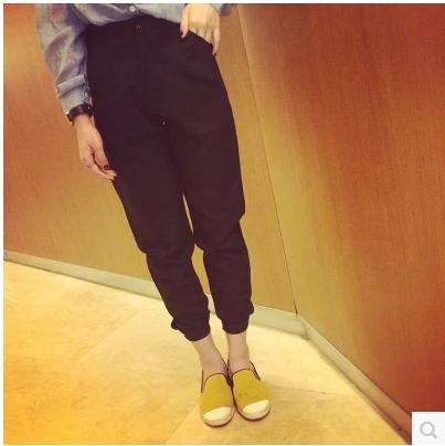 TROUSERS/ JOGGER  PANTS  กางเกงขายาวแฟชั่น กางเกงเอวสูงแฟชั่นสำหรับผู้หญิง  Vintage  pants  korean  fashion