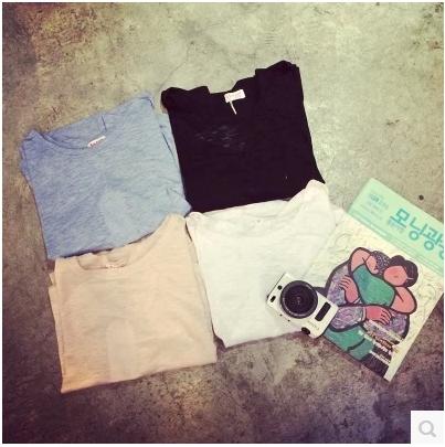 T-SHIRT เสื้อยืดแฟชั่น เสื้อตัวนอกแฟชั่นสำหรับผู้หญิงแนวเกาหลี Harajuku  t-shirt