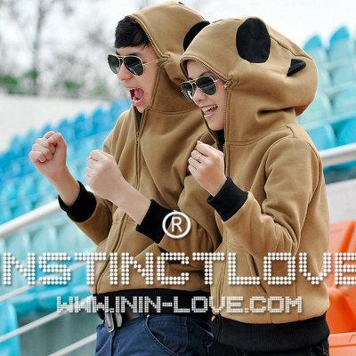 เสื้อกันหนาวคู่รัก มีฮู้ดหมีแพนด้า (ราคาต่อคู่ ช/ญ)
