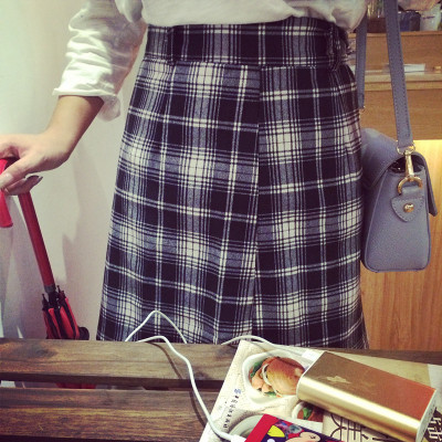 SKIRT  กระโปรงมินิสเกิร์ตแฟชั่น กระโปรงลายสก๊อต women's  sports  casual  fashion  plaid  skirt