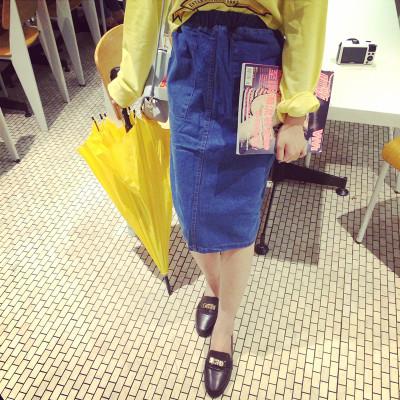 SKIRT  JEANS  กระโปรงทรง A แฟชั่น กระโปรงแฟชั่นสำหรับผู้หญิง  women's  jeans  skirt