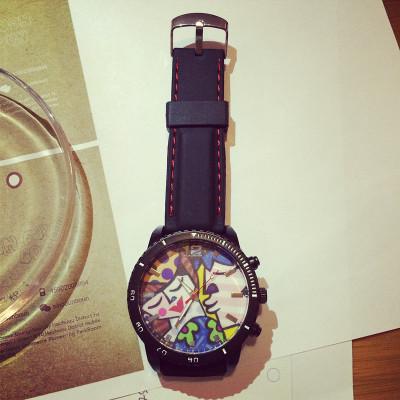 WATCH  นาฬิกาข้อมือแฟชั่น แฟชั่นนาฬิกาข้อมือดิจิตอล สินค้าแฟชั่นสำหรับผู้หญิง สไตล์เกาหลี  color  graffiti   watch  female  fashion