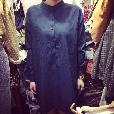 DRESS  ชุดเดรสแขนยาวทรงหลวมแฟชั่น สำหรับผู้หญิงสไตล์ญี่ปุ่นเกาหลี casual/basic  dress
