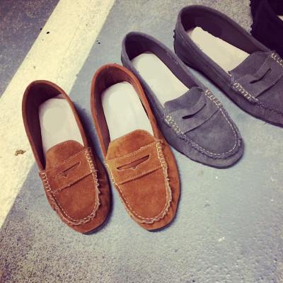 SHOES  รองเท้าคัทชูแฟชั่น รองเท้าหนังแฟชั่นสำหรับผู้หญิงแนววินเทจ casual  flat  shoes  Korean  fashion