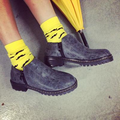 SHOES รองเท้าหนัง รองเท้าคัทชูแฟชั่น รองเท้าหนังแฟชั่นสำหรับผู้หญิง chelsea  boots / shoes  Korean  fashion