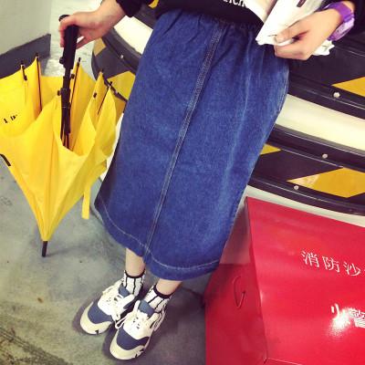 SKIRT  JEANS  กระโปรงทรง A แฟชั่น กระโปรงยีนส์ women's  jeans  long  skirt