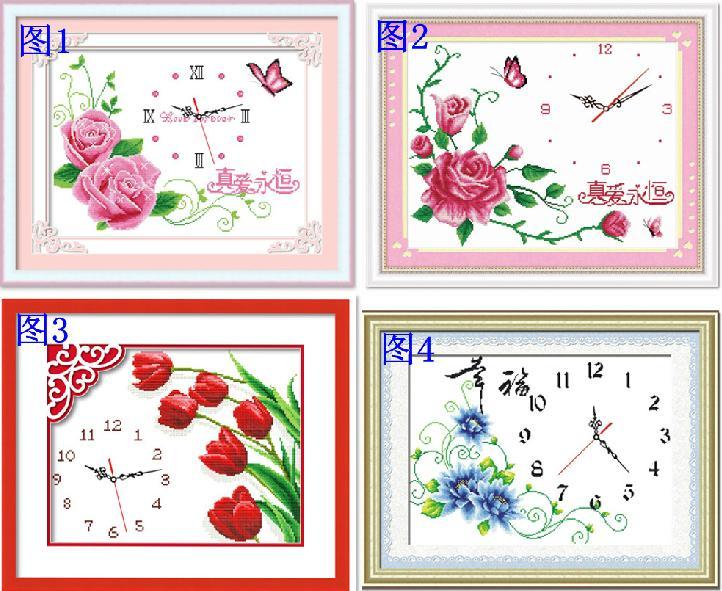 นาฬิกาดอกไม้ (+นาฬิกา)(พิมพ์ลาย)