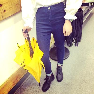 DENIM  JEANS  กางเกงยีนส์ขายาวแฟชั่น กางเกงทรงสนินนี่แฟชั่นผู้หญิง ยีนส์เดฟผู้หญิงเอวสูง สำหรับผู้หญิงสไตล์ญี่ปุ่น เกาหลี