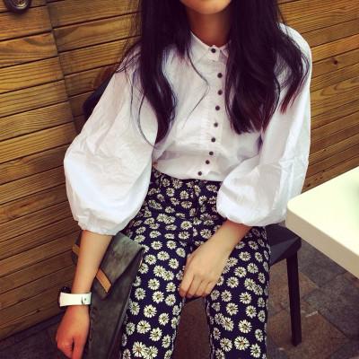 BLOUSE/SHIRT   เสื้อแขนตุ๊กตาแฟชั่น เสื้อเชิ้ตผู้หญิงแฟชั่น เสื้อแขนยาวตัวสั้นผู้หญิง แนววินเทจ เสื้อแขนยาวผู้หญิงแฟชั่น เสื้อตัวสั้นแฟชั่นสไตล์เกาหลี ญี่ปุ่น ฮาราจูกุ