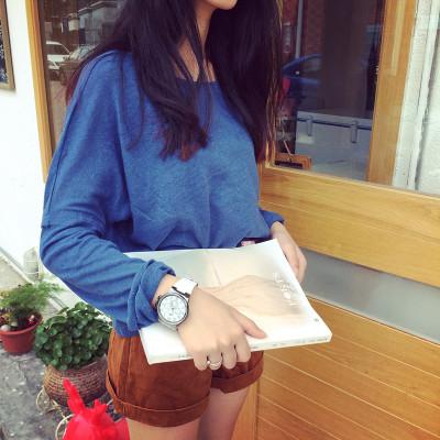 BLOUSE/T-SHIRT   เสื้อยืดแฟชั่น เสื้อลำลองแฟชั่น เสื้อแขนยาวตัวสั้นผู้หญิง แนววินเทจ เสื้อแขนยาวผู้หญิงแฟชั่น เสื้อตัวสั้นแฟชั่นสไตล์เกาหลี ญี่ปุ่น ฮาราจูกุ