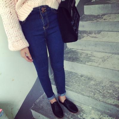 DENIM  JEANS  กางเกงยีนส์ขายาวแฟชั่น รุ่นคลาสสิก กางเกงยีนส์ผู้หญิงเอวสูงแนววินเทจ สำหรับผู้หญิงสไตล์ญี่ปุ่น เกาหลี อาราจูกุแฟชั่น