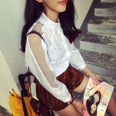 BLOUSE/SHIRT   เสื้อเชิ้ตแฟชั่น เสื้อลำลองแฟชั่น เสื้อแขนยาวผู้หญิง แนววินเทจ เสื้อแขนยาวผู้หญิงแฟชั่น เสื้อตัวสั้นแฟชั่นสไตล์เกาหลี ญี่ปุ่น ฮาราจูกุ