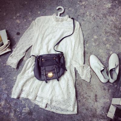 DRESS  ชุดเดรสแฟชั่น ชุดวันพีชยีนส์แขนยาว ชุดเดรสลูกไม้แนววินเทจแฟชั่น สำหรับผู้หญิงสไตล์ญี่ปุ่นเกาหลี ฮาราจูกุ เสื้อผ้าวินเทจแฟชั่น