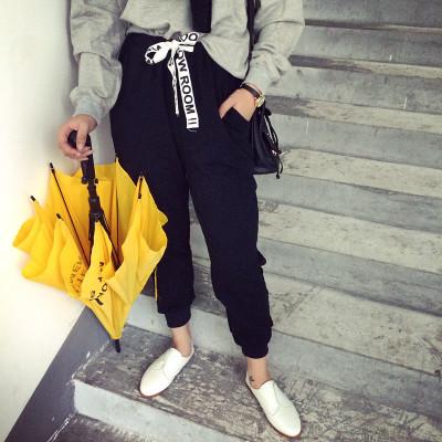 TROUSERS กางเกงขายาวผู้หญิงแฟชั่น กางเกงทรงลำลองผู้หญิง ฮาเร็มผู้หญิงทรงหลวมแนววินเทจ เกาหลี ญี่ปุ่น แฟชั่น