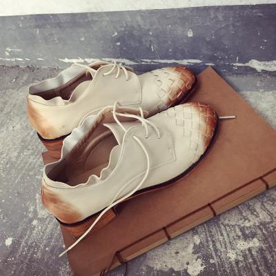 SHOES/BOOTS รองเท้าคัทชู รองเท้าหุ้มข้อผู้หญิง รองเท้าหนังผู้หญิงแฟชั่น รองเท้าแฟชั่นสำหรับผู้หญิงสไตล์วินเทจ ฮาราจูกุ แฟชั่น เกาหลี ญี่ปุ่น