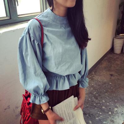 BLOUSE/SHIRT  เสื้อแขนยาวแฟชั่น เสื้อแขนตุ๊กตา เสื้อลำลองแฟชั่น เสื้อผ้าผู้หญิงสไตล์วินเทจ เสื้อแขนยาวผู้หญิงแฟชั่น เสื้อตัวสั้นแฟชั่นสไตล์เกาหลี ญี่ปุ่น  ฮาราจูกุ แฟชั่น