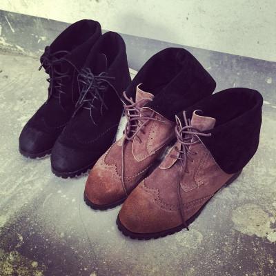 SHOES/BOOTS รองเท้าบูทผู้หญิง รองเท้าหุ้มข้อผู้หญิง รองเท้าหนังผู้หญิงแฟชั่น รองเท้าแฟชั่นสำหรับผู้หญิงสไตล์วินเทจ ฮาราจูกุ แฟชั่น เกาหลี ญี่ปุ่น