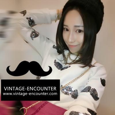 CREW NECK  / SWEATSHIRT   เสื้อสเวตเชิ้ต เสื้อสเวตเตอร์ผู้หญิง เสื้อแขนยาวผู้หญิง เสื้อผ้าแฟชั่นผู้หญิง แฟชั่นแนววินเทจ สินค้าแบรนด์แท้จาก shop counter แฟชั่น Kim Soo Hyun , Jeon Ji Hyun  ซีรี่ย์เกาหลี You Who Came From the Stars