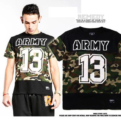 เสื้อ T- SH*I*RT  [R-E-M-E-D-Y]  ARMY13 เสื้อยืดแขนสั้นผู้ชาย เอดิสัน เสื้อคอตตอนพิมพ์ลายcamouflage แฟชั่นเสื้อลายพรางผู้ชาย สินค้าแบรนด์แฟชั่น